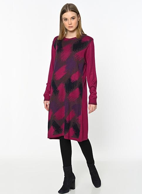 Butik Triko Tunik Elbise Kırmızı
